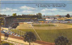 spo023613 - Al Lang Baseball Field St. Petersburg Florida Base Ball Baseball Stadium Postcards Post Card