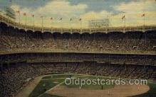 spo023684 - Yankee Stadium New York City, New York Base Ball Baseball Stadium Postcards Post Card