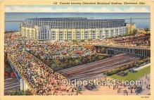 Cleveland Municipal Stadium Baseball Stadium Postcard Post Card