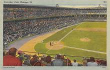 spo023A003 - Comiskey park, Chicago, Ill,USA, home of White Sox, Base Ball,  Baseball Stadium, Postcard