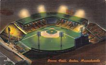 spo023A067 - Braves Field, Boston Massachusetts, Baseball Team, Base Ball Stadium Postcard