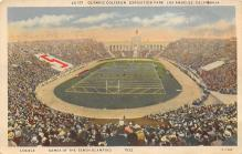 spo023A109 - Olympic Coliseum, Exposition Park, Los Angeles, California, USAFootball Stadium Postcard