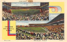 spo023A123 - Wrigley Field Chicago, Illinois Base Ball Baseball Stadium  Post Card