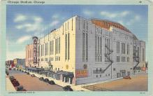 spo023A131 - Chicago Stadium, Ill, USA Chicago, Illinois Base Ball Baseball Stadium  Post Card