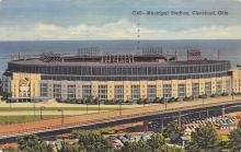 spo023A133 - Cleveland Ohio, USA Municipal Stadium Base Ball Baseball Stadium  Post Card