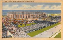 spo023A137 - Cleveland Ohio, USA Municipal Stadium Base Ball Baseball Stadium  Post Card