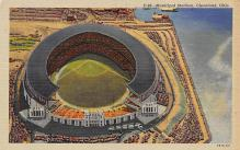 spo023A143 - Cleveland Ohio, USA Municipal Stadium Base Ball Baseball Stadium  Post Card