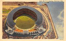 spo023A145 - Cleveland Ohio, USA Municipal Stadium Base Ball Baseball Stadium  Post Card
