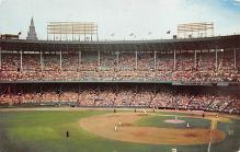 spo023A155 - Municipal Stadium Cleveland Indians Game Cleveland, Ohio Base Ball Baseball Stadium  Post Card
