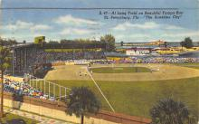 spo023A163 - Al Lang Baseball Field St. Petersburg Florida Base Ball Baseball Stadium  Post Card