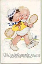 spo024010 - Artist Beatice Mallet, Tennis Postcard Postcards