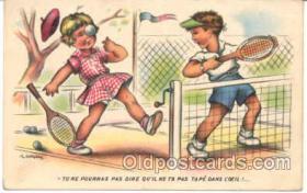 spo024031 - Tennis Postcard Postcards