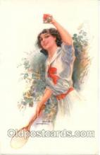 spo024072 - Tennis Postcard Postcards <br><br> Artist Usable