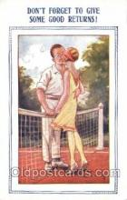 spo024084 - Cartoon Tennis Postcard Postcards