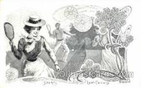 spo024270 - Artist Tamagno, Tennis Postcard Postcards