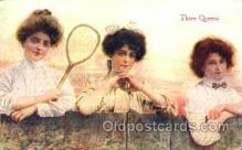 spo024280 - Three Queens, Tennis Postcard Postcards