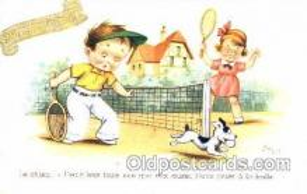 spo024291 - Artist Jim Patt Tennis Postcard Postcards