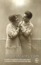 spo024352 - Tennis, Old Vintage Antique, Post Card Postcard