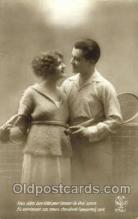 spo024353 - Tennis, Old Vintage Antique, Post Card Postcard