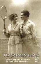 spo024354 - Tennis, Old Vintage Antique, Post Card Postcard