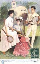 spo024355 - Raphael Tuck & Sons, Oilette Tennis, Old Vintage Antique, Post Card Postcard