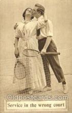 spo024357 - Tennis, Old Vintage Antique, Post Card Postcard