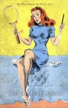 spo024359 - Tennis, Old Vintage Antique, Post Card Postcard