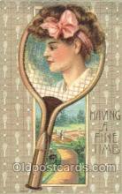 spo024361 - Tennis, Old Vintage Antique, Post Card Postcard
