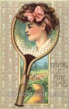 spo024362 - Tennis, Old Vintage Antique, Post Card Postcard