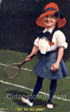 spo024365 - Tennis, Old Vintage Antique, Post Card Postcard