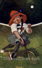 spo024366 - Tennis, Old Vintage Antique, Post Card Postcard