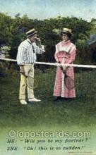 spo024368 - Tennis, Old Vintage Antique, Post Card Postcard
