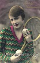 spo024369 - Tennis, Old Vintage Antique, Post Card Postcard