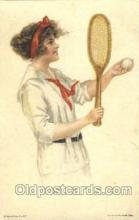 spo024370 - Artist Alice Luella Fidler Tennis, Old Vintage Antique, Post Card Postcard