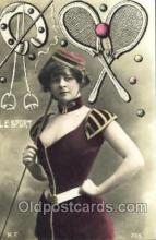 spo024371 - Tennis, Old Vintage Antique, Post Card Postcard
