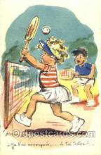 spo024373 - Germaine Bouret Tennis, Old Vintage Antique, Post Card Postcard