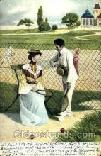 spo024376 - Tennis, Old Vintage Antique, Post Card Postcard