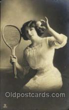 spo024380 - Tennis, Old Vintage Antique, Post Card Postcard