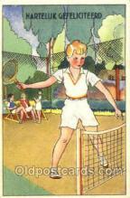 spo024381 - Tennis, Old Vintage Antique, Post Card Postcard