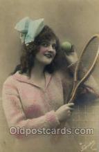 spo024387 - Tennis, Old Vintage Antique, Post Card Postcard