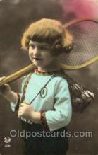 spo024390 - Tennis, Old Vintage Antique, Post Card Postcard