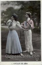 spo024394 - Tennis, Old Vintage Antique, Post Card Postcard
