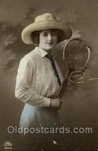 spo024398 - Tennis, Old Vintage Antique, Post Card Postcard