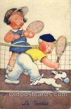 spo024399 - Tennis, Old Vintage Antique, Post Card Postcard