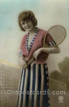 spo024414 - Tennis, Old Vintage Antique, Post Card Postcard