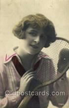 spo024416 - Tennis, Old Vintage Antique, Post Card Postcard