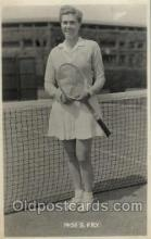 spo024421 - Miss S Fry Tennis, Old Vintage Antique, Post Card Postcard