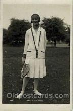 spo024422 - Mes. AK Cuyer Tennis, Old Vintage Antique, Post Card Postcard