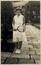 spo024427 - Miss SK Johnson Tennis, Old Vintage Antique, Post Card Postcard