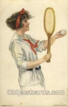 spo024432 - Edward Gross Co., N.Y., USA Artist Alice Fidler Tennis, Old Vintage Antique, Post Card Postcard